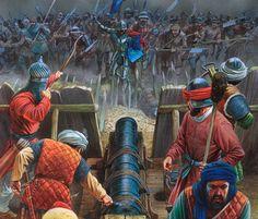 The Ottoman Empire Army Wilhelm Ii, Kaiser Wilhelm, Military Art, Military History, Renaissance, Warrior Paint, Armadura Medieval, Landsknecht, Late Middle Ages