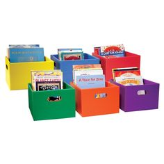 Book Boxes - Sturdy box is a space-efficient way to sort and organize lots of books in any free space your room has to offer!