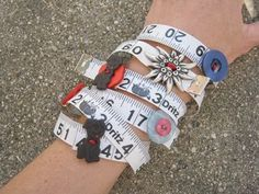 How to Make Tape Measure and Button Bracelets