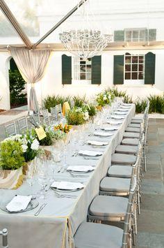 "The ""Head Table"" gets a Refresh from Calder Clark - wedding centerpiece idea"