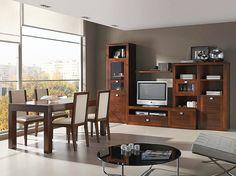 22 mejores imágenes de Muebles de Salon Comedor en madera de nogal ...