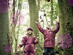 The magic of playing with leaves on a sunny autum day. New season from KOOLS KIDS