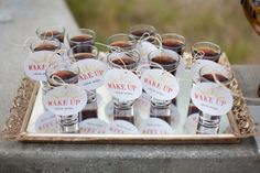 espresso shot appetizers for breakfast/brunch Wedding Groom, Wedding Tips, Wedding Blog, Wedding Favors, Wedding Events, Our Wedding, Wedding Planning, Dream Wedding, Perfect Wedding