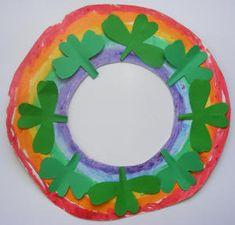 Preschool Crafts for Kids: Rainbow Wreath March Crafts, St Patrick's Day Crafts, Daycare Crafts, Classroom Crafts, Spring Crafts, Holiday Crafts, Crafts For Kids, Classroom Ideas, Holiday Decor