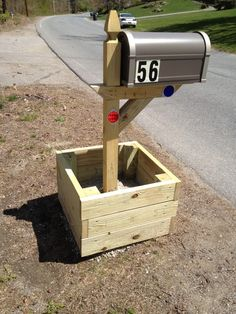 Mailbox planter... fill with flowers! Make your area unique and beautiful