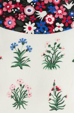 Wool-Silk Printed Dress detail 1