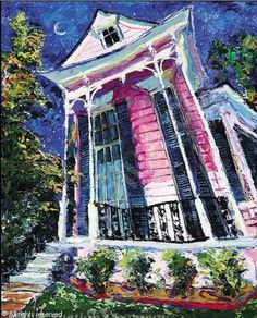 New Orleans...I wish I lived in this painting. I would be sitting on stoop with a cold, cold Abita or maybe a Hurricane :)