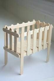 Baby barbie crib