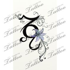 capricorn and leo signs entwined together custom tattoo | Delicate Tribal Version #19951 | CreateMyTattoo.com