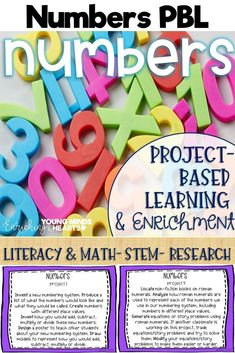 These number themed project-based learning and enrichment projects put ownerhsip of learning into your student's hands and enrich your students through independent work study. Engage your classroom during your number unit with these ten printables that ha