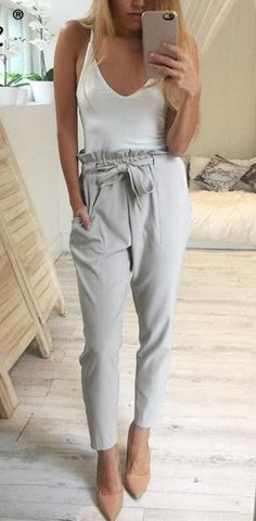 2017 chiffon high waist harem pants