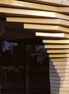 Bloomsbury Square Pavilion showing stacked timber structure