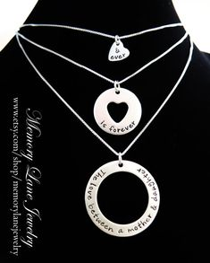 ORDER NOW FOR MOTHER'S DAY!!!  The Love Between a Mother & Daughter - Mother, Daughter and Grandmother Necklaces - Memory Lane Jewelry - www.etsy.com/shop/memorylanejewelry