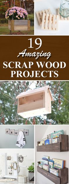 Wood Pallet Projects 19 Amazing DIY Scrap Wood Projects - Check out these easy scrap wood projects that will not only clean out your garage stash, but will also add some really great elements to your home. Wood Projects For Kids, Wood Projects For Beginners, Scrap Wood Projects, Wood Working For Beginners, Easy Woodworking Projects, Popular Woodworking, Diy Pallet Projects, Woodworking Jigs, Carpentry Projects