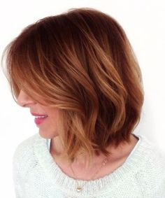 Cute Short Hairstyles for Women with Side Swept Long Bangs