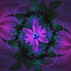 """Beautiful Ultraviolet Lilac Orchid Fractal Flowers"", glowing in the blacklight fractal night, by San Jaya Prime #fractal https://www.redbubble.com/people/jayaprime/works/26842038-beautiful-ultraviolet-lilac-orchid-fractal-flowers?ref=pin&p=contrast-tank"