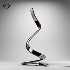 Sexy and sculptural, Spiral is a very original design floor lamp wrapping on itself like a snake.