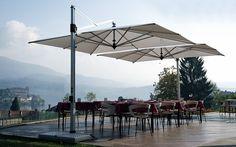 Commercial Outdoor Furniture | Retracting Cantilever Outdoor Umbrella