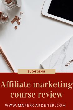 Affiliate marketing course review. I did a afliate marketing course awhile back from a blogger called Michelle whom is earning lots of money as a blogger full time #makergardener #affiliatemarketing Blogger Tips, Way To Make Money, Affiliate Marketing, Frugal, Stuff To Do, Blogging, About Me Blog, Budget