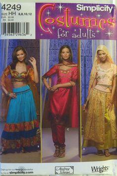 Simplicity 4249 Misses' Costumes