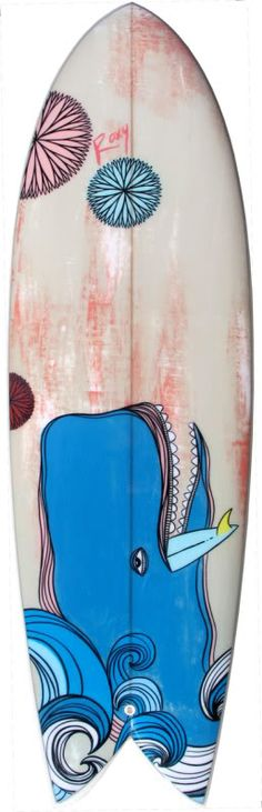 If I was a surfer.this would most definitely by my surfboard! Roxy, Swimming Party Ideas, Surfboard Art, Surfboard Painting, Sup Yoga, Surfer Style, Skate Surf, Posca, Surf Art
