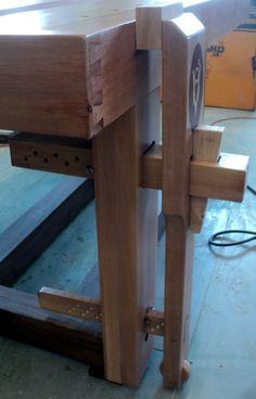 Wedge Powered Leg Vice that Works. - by shipwright @ LumberJocks.com ~ woodworking community