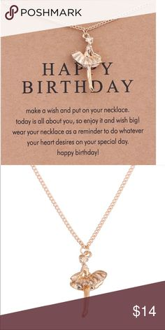 Dainty Birthday necklace NWOT 18-19 inch gold dipped Jewelry Necklaces