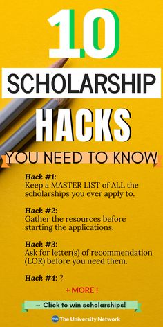The Complete Guide to Scholarship Hacks Here's the secret to winning scholarships! – College Scholarships Tips Scholarships For College Students, School Scholarship, Grants For College, College Planning, College Tips, College Checklist, College Dorms, College Club, College Apartments