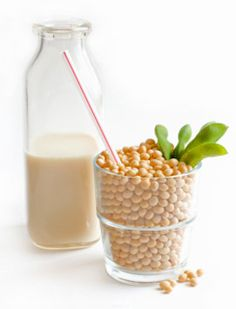 Soy milk is a good, natural source of protein; 6-7 grams of protein per serving! Great for your post-workout meal