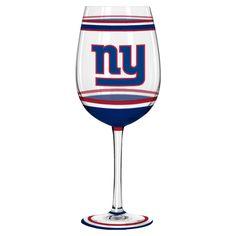 New! New York Giants Wine Glass - 18oz Brush Painted #NewYorkGiants