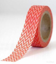 Zig Zag Orange profond Washi Tape emballage