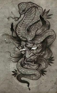 My Hannya Tattoo by Francisco Alvarado