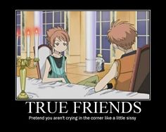 True friends. #ouran high school host club
