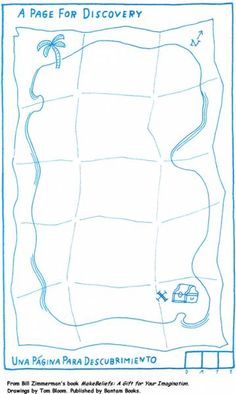 Draw a treasure map! (Use for starting topographic maps. Students can create their own map, discuss. I usually do this on plain paper but like the template. Pirate Day, Pirate Theme, Pirate Activities, Activities For Kids, Art Handouts, Treasure Maps, Treasure Chest, Art Worksheets, Art Classroom