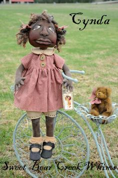 Prim Nest: Prim and Pretty Folk Art Black Doll