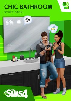 Mod The Sims - The Sims 4 Chic Bathroom - Custom Stuff Pack Maxis, Los Sims 4 Mods, Sims 4 Game Mods, Die Sims 4 Packs, Sims 4 Game Packs, Sims 4 Tattoos, Sims 4 Expansions, Sims 4 Traits, Louis Vuitton Speedy