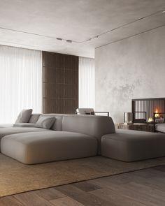 Wabi Sabi — Japanese aesthetics | Ваби Саби on Behance Home Room Design, Living Room Designs, House Design, Home Living Room, Living Spaces, Wardrobe Door Designs, Style Japonais, Minimalist Room, Apartment Interior