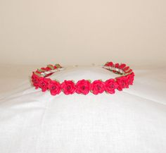 Red Roses Headband by epochbeadsUK on Etsy, £20.00