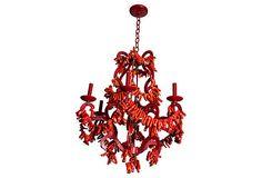 Marjorie Skouras coral chandelier.