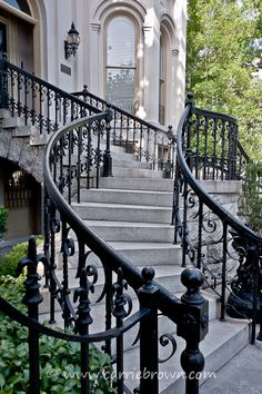 Wrought Iron Railings...Savannah, GA ~Wealth and Luxury ~Grand Mansions, Castles, Dream Homes & Luxury homes