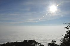 Sea of Clouds Sunrise in cikurai mountain  West Java - Indonesia