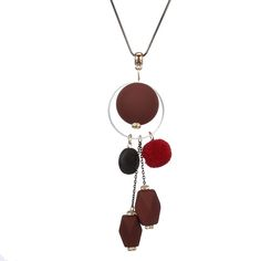 Long Wooden Necklace for Women //Price: $9.95 & FREE Shipping //     #rustic #cafe #diy