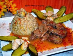 Smak, zapach, kolor, tradycja z nutką nowoczesności...: Gulasz indyczy z kaszą  - obiad doskonały