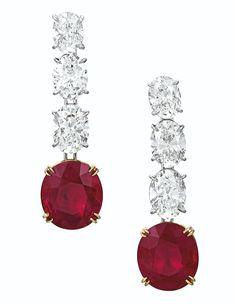Created Ruby Jubilee Cut Stud Earrings with Crown Setting in Sterling Silver – Fine Jewelry & Collectibles Ruby Jewelry, Ruby Earrings, Dainty Jewelry, Turquoise Jewelry, Diamond Earrings, Fine Jewelry, Jewlery, Jewelry Packaging, Gemstone Colors