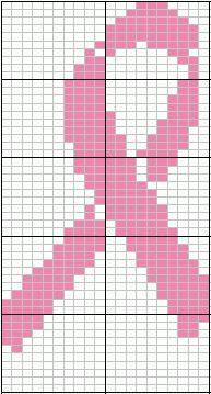 Knitted Pattern Graph Chart Pink Ribbon : Graph crochet patterns on Pinterest Cross Stitch Patterns, Perler Beads and...
