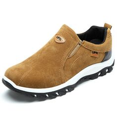 Fashion Men Hiking Suede Breathable Slip Resistant Slip On Outdoor Sneakers - NewChic Mobile