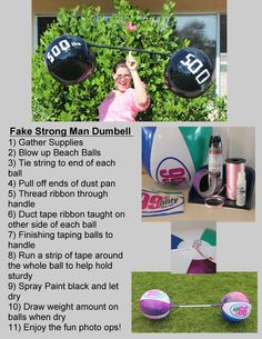 How to make a fake strong man barbell