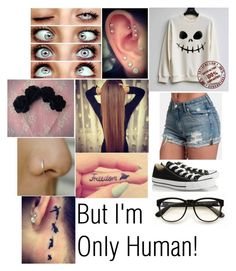 """But I'm Only Human!"" by alainna-1 ❤ liked on Polyvore featuring Wildfox, Converse, women's clothing, women's fashion, women, female, woman, misses and juniors"