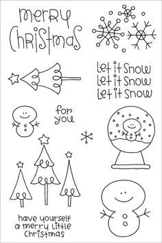 Doodlebug clear stamp, but could make a cute little Christmas decoration!