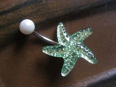 Bellybutton ring, Starfish Shell Star by Azeetadesigns